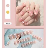 Bộ 24 móng tay giả nail thơi trang (như hình-R-010) thumbnail
