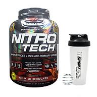 Combo Sữa tăng cơ cao cấp Nitro Tech của Muscletech hương Chocolate hộp 4lbs hỗ trợ tăng cơ, giảm mỡ & Bình lắc 600ml (mẫu ngẫu nhiên) thumbnail