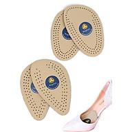 2 cặp lót giày cao gót chất liệu da đệm êm 1 2 lòng bàn chân trước - buybox - BBPK66_2 thumbnail