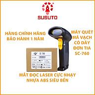 Máy QUÉT mã vạch cầm tay có dây đơn tia 1D SC-760 ( Hàng chính hãng) thumbnail