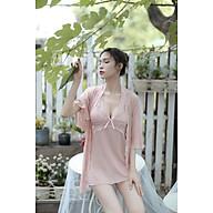 Đầm ngủ lụa nguyên sét bao gồm áo khoác HATI - AKN9557 thumbnail