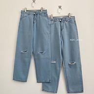 Quần Baggy Jeans NQ30_store Rách Gối Cạp Cao Xanh Nhạt Nữ Ullzang thumbnail