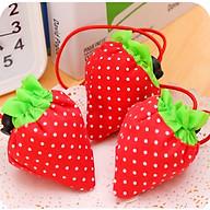 Túi đựng đồ gấp gọn hình trái dâu thumbnail