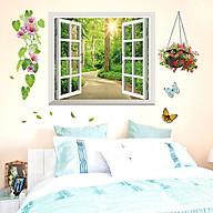 Decal dán tường trang trí phòng khách,quán cafe- Cửa sổ ánh sáng- mã sp DDLX1141 thumbnail