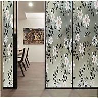 Decal dán kính mờ hoa cúc trắng - decal dán kính phòng ngủ - phòng khách - khách sạn - DEcal Binbin DK54 thumbnail