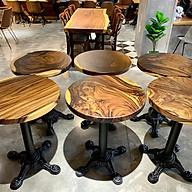 Mặt bàn tròn cafe gỗ me tây nguyên tấm da dạng kích thước thumbnail