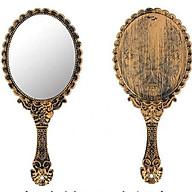 Gương Princess Cầm Tay Không Gập Tặng Kèm Mút Rửa Mặt Bọt Biển thumbnail