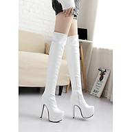 Boot đùi cao 15cm màu trắng gót nhọn THỜI THƯỢNG GCC2602 thumbnail