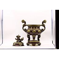 Đỉnh đồng mẫu Hoa Sòi Bằng Đồng Thau Đúc Công Nghệ 2 Màu 50cm thumbnail