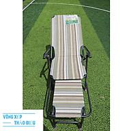 Ghế xếp lợp lưới thổ cẩm nằm mát lưng khung sơn tĩnh điện cao cấp thumbnail
