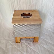 Ghế gỗ xông hơi vùng kín có lớp bọc cách nhiệt - Tặng kèm 01 gói thảo dược xông hơi vùng kín thumbnail
