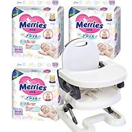 Combo 3 gói tã dán quần Merries nội địa Nhật tặng ghế ăn dặm Mastela điều chỉnh độ cao cho bé thumbnail
