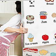 Decal trang trí tủ lạnh tiếng anh am7090 thumbnail