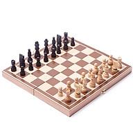 Bàn cờ vua - quân cờ bàn cờ bằng gỗ sồi 29cm thumbnail