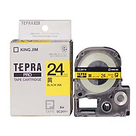 Băng mực in nhãn Tepra cỡ 18mm dùng cho máy KING JIM TEPRA PRO SR-R170V SR530 SR970 SR5900P - HÀNG CHÍNH HÃNG thumbnail