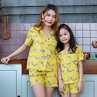 Đồ bộ Pijama mẹ và bé màu vàng họa tiết con chồn thumbnail