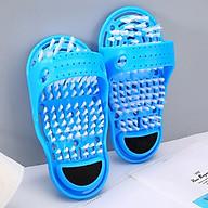 Dép Bàn chải Massage chân, rửa chà gót chân Dụng cụ rửa chân đa năng tặng chai xịt giày thumbnail