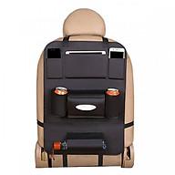 Tấm da treo ghế để giấy ăn, chai lọ tiện lợi giúp nội thất xe gọn gàng - màu ngẫu nhiên thumbnail