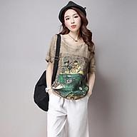 Áo cotton lanh in hoạ tiết thumbnail