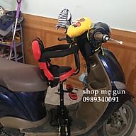 Ghế ngồi cho bé dành cho xe máy ga ghế ngồi xe máy xe điện, xe đạp điện có chỗ để chân rộng 25 cm thumbnail