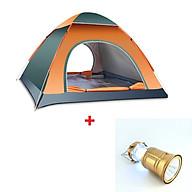 Lều cắm trại 4 người tự bung chống thấm kích thước 200 x 200 x 120cm nặng 1.7kg, liều cắm trại 2 cửa mini dùng để đi du lịch dã ngoại câu cá tiện lợi - [TẶNG ĐÈN PIN LED DÃ NGOẠI ĐA NĂNG] thumbnail