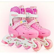 Giày patin, Giày patin trẻ em (5 đến 14 tuổi) với bánh xe phát sáng, TẶNG ĐẦU ĐỦ PHỤ KIỆN MŨ, BẢO HỘ, TRÒ CHƠI thumbnail