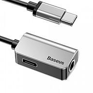 Adapter L40 Baseus chuyển cổng Type-C sang Audio 3.5mm + Type-C tích hợp (Vừa sạc pin vừa nghe nhạc)- Hàng nhập khẩu thumbnail