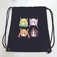 Balo dây rút đen in hình HẦU GÁI RỒNG anime chibi túi rút đi học xinh xắn thời trang thumbnail