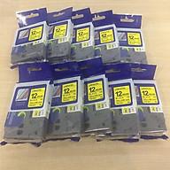 [Combo 10 cuộn] Nhãn TZ2-631 tiêu chuẩn - Chữ đen trên nền vàng 12mm - Hàng nhập khẩu thumbnail