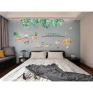 Decal Luvina trang trí phòng khách, phòng ngủ-Tán lá kệ sách thumbnail