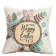 Vỏ Gối tựa lưng sofa bộ màu thỏ trắng thumbnail