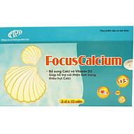 Viên uống Canxi FocusCalcium dạng hộp (3 vỉ x 10 viên) - Chính hãng thumbnail