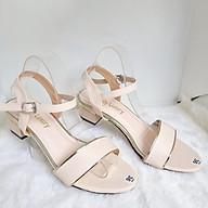 Giày Sandal Cao Gót Quai Hậu Nữ 3 Phân Chất Liệu Da - MS 092 thumbnail