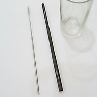 Ống hút Inox cá nhân, vỏ màu TRẮNG trang nhã kèm que cọ, móc khóa, thu gọn bỏ túi, phong cách Hàn Quốc thumbnail