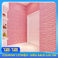 Bộ 10 Miếng Xốp Dán Tường 3D Chịu lực, chống nước, chống ẩm mốc 70x77cm - nhiều màu thumbnail