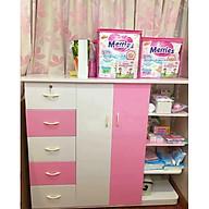 Tủ nhựa đài loan 2 cánh 5 ngăn kéo có kệ trang trí V252 thumbnail