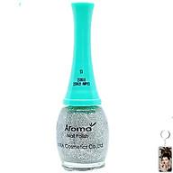 Sơn móng tay Aroma Nail Polish Hàn Quốc 12ml 53 lấp lánh bạc tặng kèm móc khóa thumbnail
