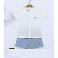 combo 2 bộ đồ cộc tay cài giữa judoby cho bé trai tặng thêm 1 bộ khác màu thumbnail