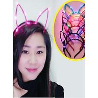 Băng đô Bờm cài tóc hình tai mèo đèn led phát sáng thumbnail