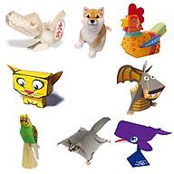 Mô hình giấy cắt dán thủ công Động vật Combo 0008 thumbnail