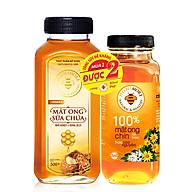 Bộ sản phẩm Mật ong sữa chúa Honimore 500g + 1 chai Mật ong chín Hoa Cao Nguyên 360g - Giúp tăng cường đề kháng, chống lão hoá, đẹp da, ăn ngon, ngủ ngon thumbnail