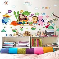 Decal dán tường cho bé cảnh Loài vật thu hoạch củ cải thumbnail