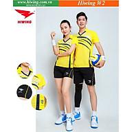 Bộ quần áo cầu lông cao cấp thương hiệu HIWING W2 màu vàng thumbnail