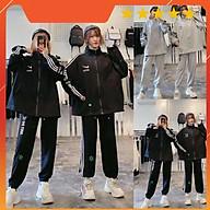 Bộ nỉ Just Do It áo kéo khóa quần bom rút dây 2 màu đen xám bao ngầu bao chất Nguyễn Hoa thumbnail