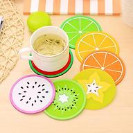Combo 5 miếng lót ly hình trái cây các loại 9cm - giao hình ngẫu nhiên thumbnail