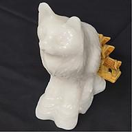 Tượng Phong Thuỷ Tuổi Mão - Mèo 12 Con Giáp Đá Trắng - 15cm - Mx - Hợp Mệnh Kim Thuỷ thumbnail
