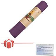Thảm Tập Yoga TPE 2 Lớp 6mm Chống Trơn Cao Cấp màu Ngẫu nhiên - Tặng Bộ Khẩu trang Thái Dương TD09 thumbnail