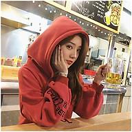 Áo Hoodie Nữ Phom Rộng Màu Trơn 3Fashion Nỉ Bông Êm Ái Stye Hàn Quốc - MSP T27 thumbnail