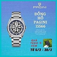 Đồng hồ nam PAGINI dây thép không gỉ kim trôi cực phong cách - Chống nước 3ATM - Mặt kính chống xước cao cấp - PA15566- PHỤ KIỆN THỜI TRNAG CAO CẤP thumbnail