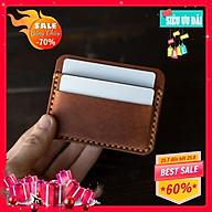 Ví Đựng Thẻ Ví Da Mini Handmade Đựng Tiền Sành Điệu Sang Chảnh thumbnail